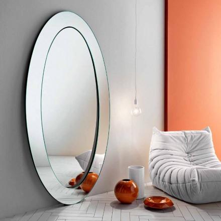 Espejo de Pie Oval Moderno con Marco Inclinado Hecho en Italia - Salamina