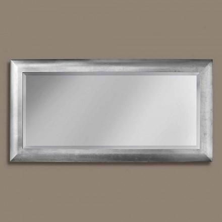 Espejo de pared rectangular de madera ayous, producido en Italia, Manuel.