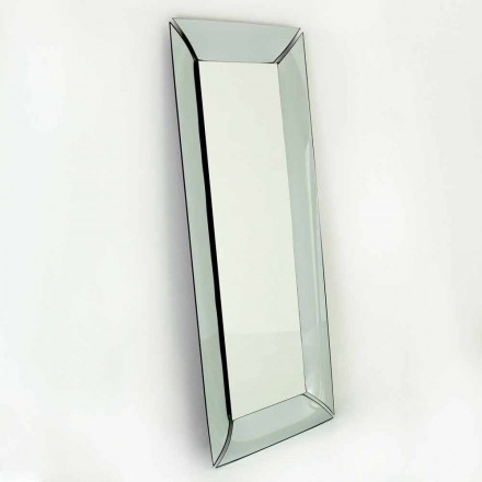 Espejo rectangular grande de cristal de diseño Made in Italy - Twin