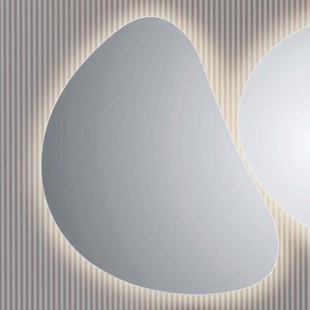 pared del baño espejo con luz de fondo LED Pirro