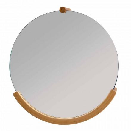 Espejo de baño de pared con marco de bambú Gorizia