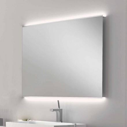 Espejo de baño con luz LED de diseño moderno con bordes esmerilados Veva