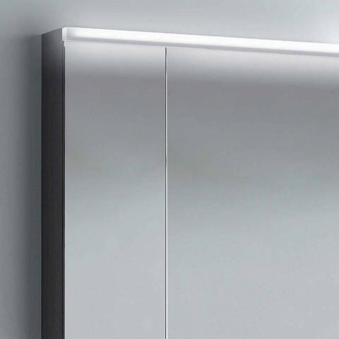 armario con espejo 2 puertas de diseño moderno, iluminación LED, Carol