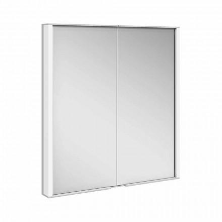 Armario con espejo en aluminio pintado plateado, moderno - Demon