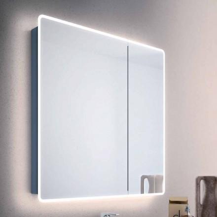 Espejo puertas moderna recipiente 2 cuarto de baño, con luces LED, Valter