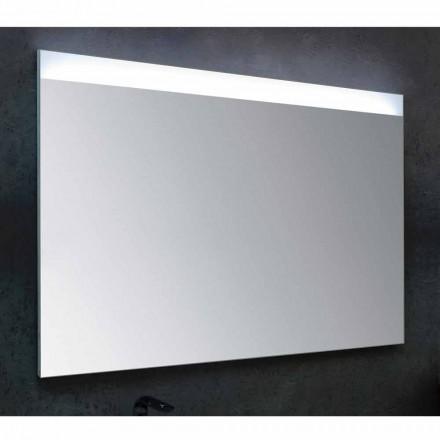 Espejo de baño con moderna iluminación LED de diseño Yvone