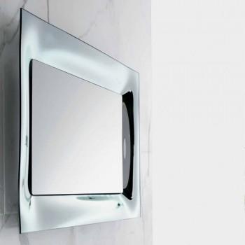 Baño marco de espejo de plata fundida de vidrio diseño moderno Arin