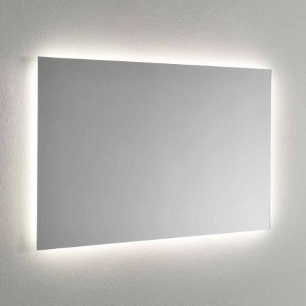Espejo de pared con retroiluminación LED en 4 lados Made in Italy - Romio