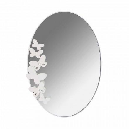 Espejo de pared de hierro oval de diseño moderno hecho en Italia - mantequilla