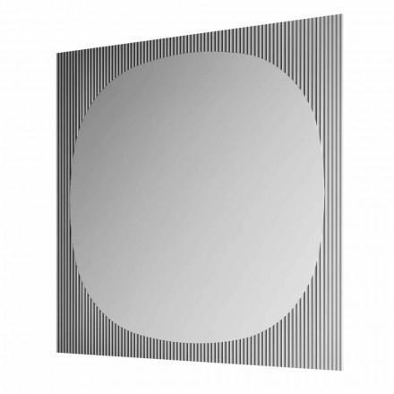 Espejo de Pared Cuadrado Moderno Color Ahumado Hecho en Italia - Bandolero