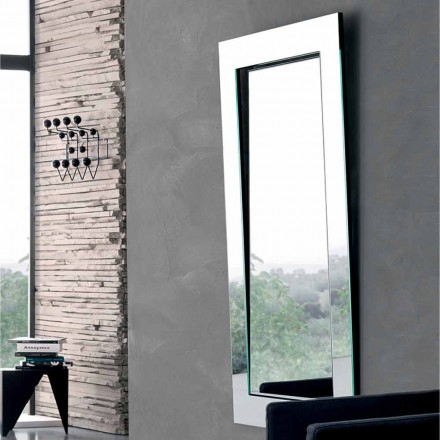 Espejo de Pared Rectangular con Marco Inclinado Hecho en Italia - Salamina
