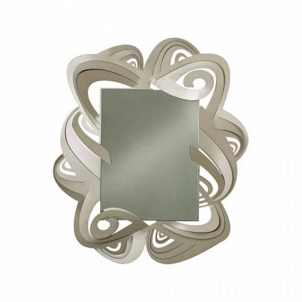 Espejo de pared rectangular moderno de hierro hecho en Italia - Penny