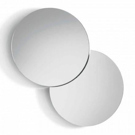Espejo de Pared Redondo con Satèlite que Gira a 360° Hecho en Italia - Shaki