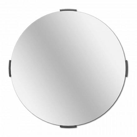 Espejo de pared cantilever de diseño redondo moderno con marco - Odosso