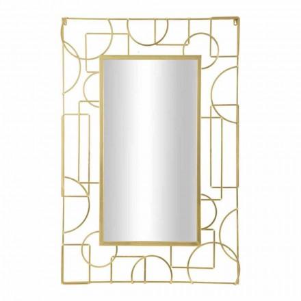 Espejo de pared de hierro rectangular de diseño moderno - Plinio