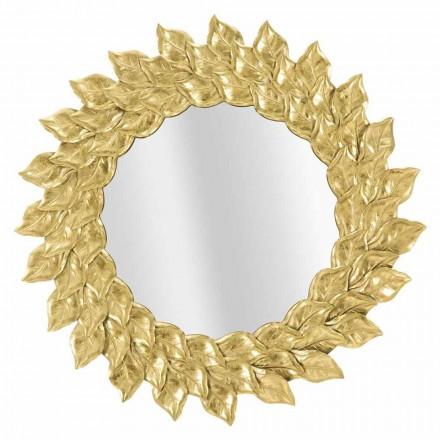 Espejo de pared redondo de diseño moderno con marco de hierro - Seneca
