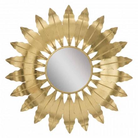 Espejo redondo moderno con marco de hierro - Galdi