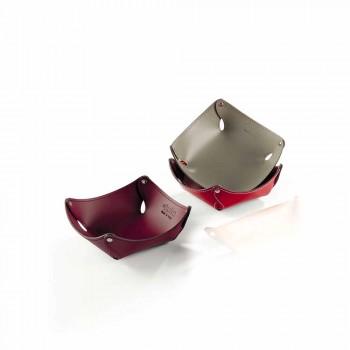Bandeja de bolsillo moderna en cuero Clay