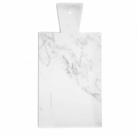 Tabla de cortar moderna en mármol blanco de Carrara hecho en Italia - Biblon