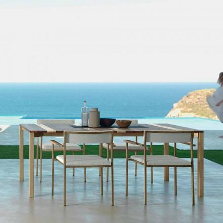 Mesa de jardín de diseño Talenti Casilda L260xH76cm made in Italy