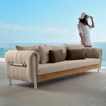 Sofá de jardín de diseño Talenti Domino hecho en Italia