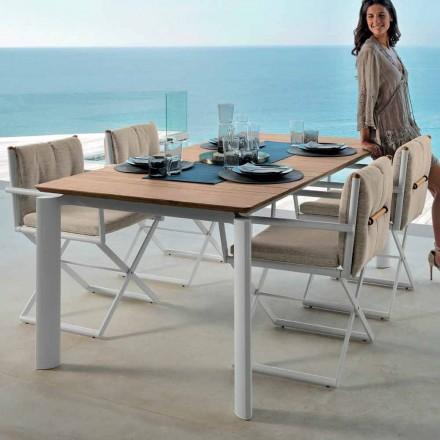 Mesa de jardín extensible Talenti Domino de 160 / 215cm hecha en Italia