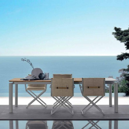 Mesa de jardín extensible Talenti Domino 200 / 260cm hecha en Italia