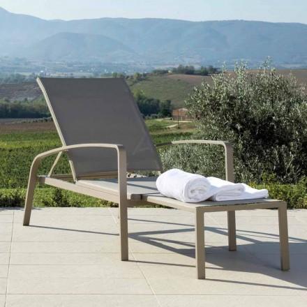 Talenti Lady cama de jardín de diseño reclinable hecha en Italia