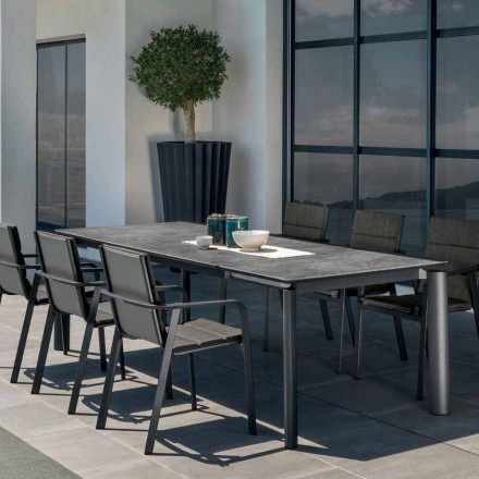 Mesa de jardín extensible para exterior Talenti Milo fabricada en Italia
