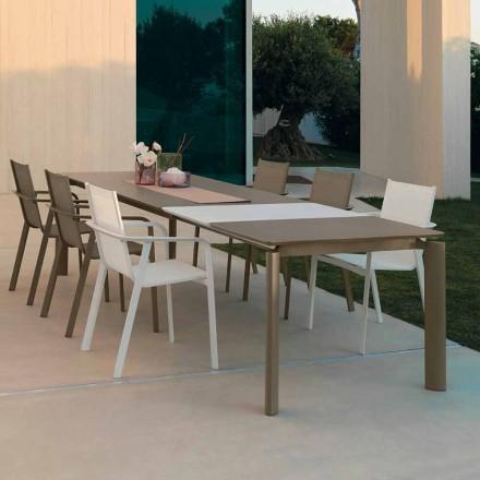 Mesa de comedor para exteriores extensible Talenti Milo hecha en Italia