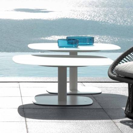 Mesa de jardín de diseño moderno Talenti Rope hecha en Italia