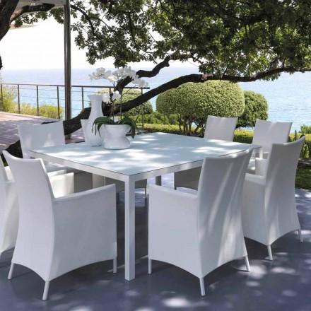 Mesa de exterior Talenti Touch 155x155cm de diseño made in Italy