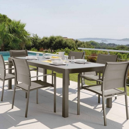 Mesa de exterior extensible Talenti Touch 152 / 225cm made in Italy