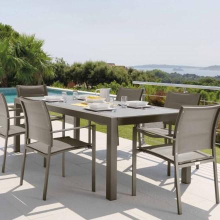 Mesa exterior extensible Talenti Touch de 152 / 225cm hecha en Italia