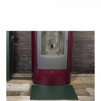 Alfombrilla de cuero para chimenea / estufa Virgilio Made in Italy