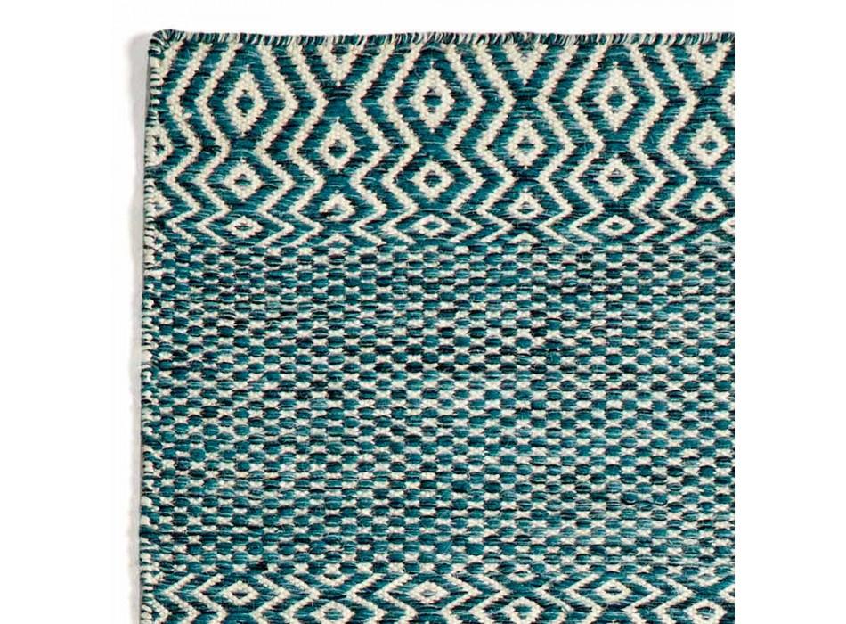 Alfombra de salón de diseño moderno en lana y algodón hechas a mano - Minera