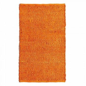 Alfombra de salón de diseño moderno y colorido tejida a mano en yute - Melino