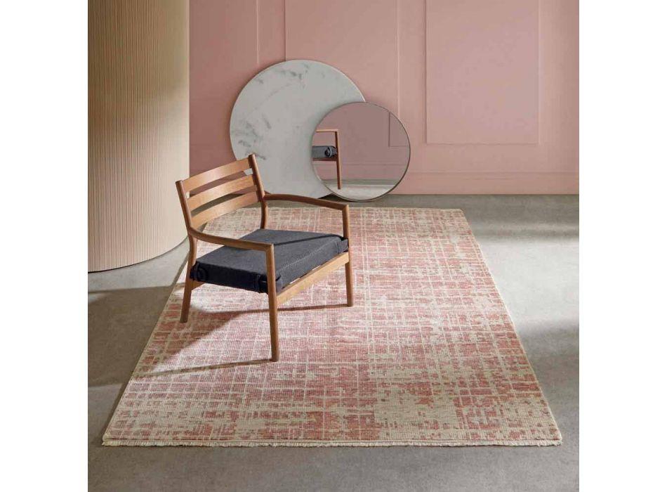 Alfombra de salón moderna tejida a mano en lana y algodón - Neppo