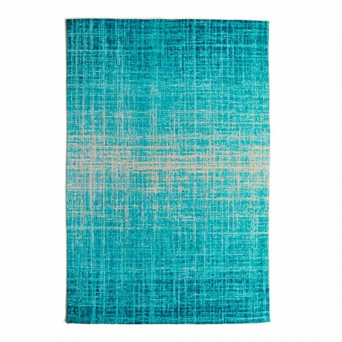 Alfombra rectangular de diseño para salón en poliéster y algodón - Estilo