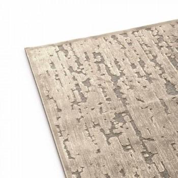 Alfombra rectangular para salón en 100% viscosa, preciosa Made in Italy - Tigre