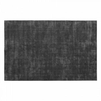 Alfombra rectangular para sala de estar en viscosa, alta calidad Made in Italy - Stephan