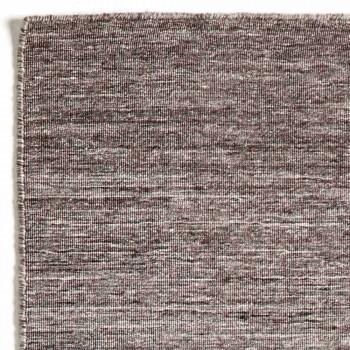 Alfombra rectangular para sala de estar tejida a mano en poliéster y algodón - Zonte