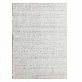Alfombra de cocina de diseño moderno en lana, viscosa y algodón - Liolla