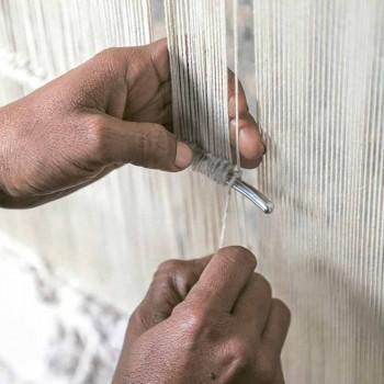 Alfombra de colores modular hecha a mano en viscosa tejida en la India - Gilberto