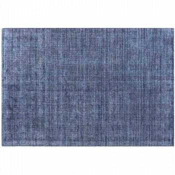 Alfombra hecha a mano de lana y seda de bambú de alta calidad tejida en India - Anella