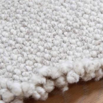 Alfombra de lana con flecos de diseño grande y moderno negro o crema - Jacqueline