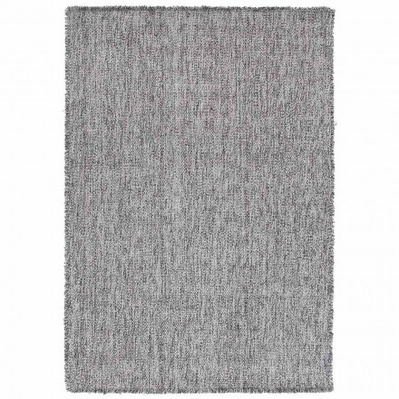 Alfombra grande de diseño moderno en lana negra o crema - Jacqueline