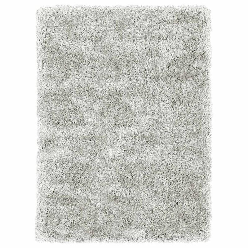 Alfombra grande de seda y algodón de diseño moderno, color, cabello largo - Etesia