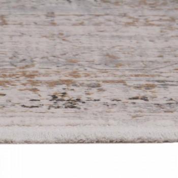 Alfombra antideslizante de acrílico y viscosa con diseño gris beige - Presidente
