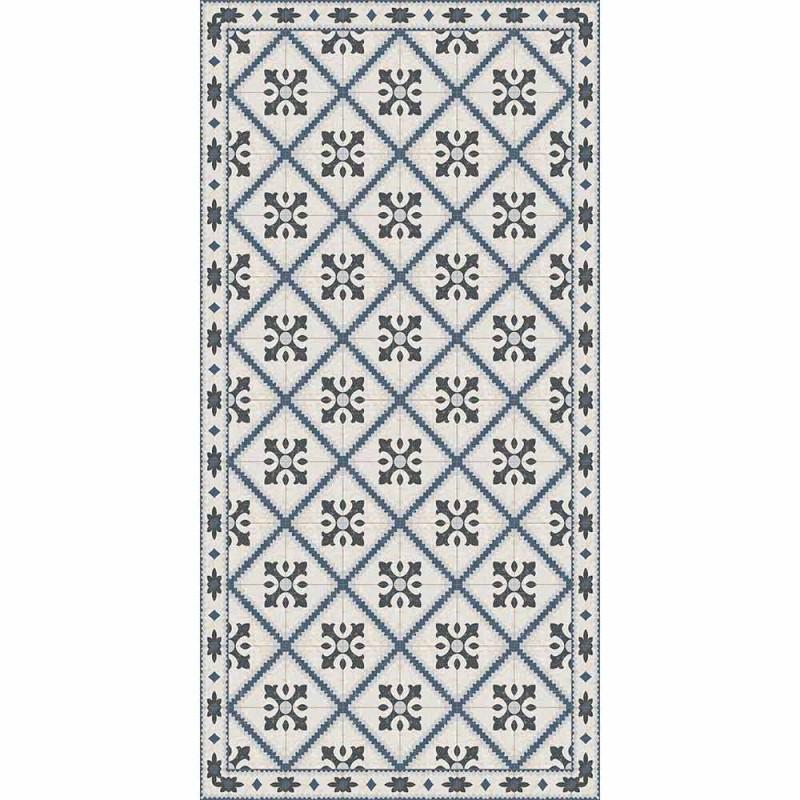 Alfombra de vinilo rectangular moderna para sala de estar - Berimo